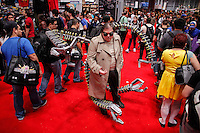 New York City, NY. 10 October 2014. People take part during the 2014 New York Comic Con fair at the Jacob Javitz Center. Photo by Kena Betancur/VIEWpress