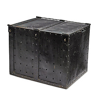 Box of tricks...  Harry Houdini's 'trick' steel crate which he used for his daring underwater escape