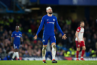 Chelsea's Olivier Giroud reacts <br /> <br /> Photographer Craig Mercer/CameraSport<br /> <br /> The Premier League - Chelsea v West Bromwich Albion - Monday 12th February 2018 - Stamford Bridge - London<br /> <br /> World Copyright &copy; 2018 CameraSport. All rights reserved. 43 Linden Ave. Countesthorpe. Leicester. England. LE8 5PG - Tel: +44 (0) 116 277 4147 - admin@camerasport.com - www.camerasport.com