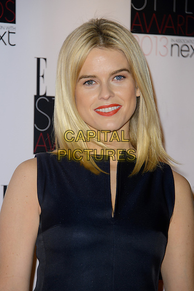 Alice Eve.The Elle Style Awards 2013 arrivals, The Savoy Hotel, London, England..11th February 2013.headshot portrait sleeveless red lipstick black  .CAP/CJ.©Chris Joseph/Capital Pictures.