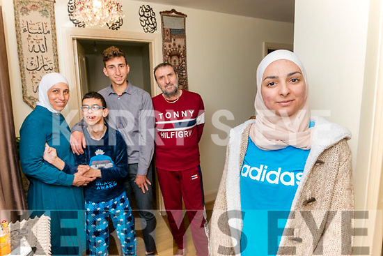 Nataly Aede pictured with her mother Wafaa Algafari, younger brothers Mhdnour Aede and Samir Aede and father Samir Aede.