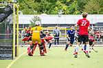 Lukas Stumpf #4 of Mannheimer HCMannheim, Germany, October 12: During the 1. Hockey Bundesliga men match between TSV Mannheim and Mannheimer HC on October 12, 2019 at TSVMH Arena in Mannheim, Germany. Final score 1-4 (HT 0-1). (Copyright Dirk Markgraf / 265-images.com) ***