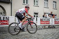 Jens Debusschere (BEL/Lotto Soudal) early race. He will abandon the race later on..<br /> <br /> 11th Heistse Pijl 2018<br /> Turnhout > Heist-op-den Berg 194km (BEL)