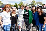 L-R Currow and Scartaglen girls L-R Catriona Brosnan, laura Fiddes, Michael Fassbender, Lisa Crawley, karen Matthews and Clíona Deasey at the rally of the Lakes, Killarney last Sunday.