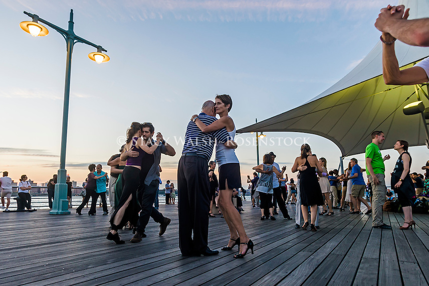 New York, USA - 26 August 2016 -Tango dancing on Christopher Street pier in Hudson River Park ©Stacy Walsh Rosenstock