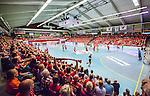 Eskilstuna 2014-05-12 Handboll SM-semifinal 3 Eskilstuna Guif - Alings&aring;s HK :  <br /> Vy &ouml;ver Sporthallen i Eskilstuna under matchen med publik p&aring; l&auml;ktarna<br /> (Foto: Kenta J&ouml;nsson) Nyckelord:  Eskilstuna Guif Sporthallen Alings&aring;s AHK SM Semifinal Semi supporter fans publik supporters inomhus interi&ouml;r interior