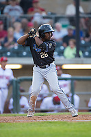 Keshawn Lynch (26) of the Missoula Osprey at bat against the Billings Mustangs at Dehler Park on August 21, 2017 in Billings, Montana.  The Osprey defeated the Mustangs 10-4.  (Brian Westerholt/Four Seam Images)