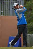 Paul McConnell (USA) watches his tee shot on 1 during Round 2 of the Valero Texas Open, AT&T Oaks Course, TPC San Antonio, San Antonio, Texas, USA. 4/20/2018.<br /> Picture: Golffile | Ken Murray<br /> <br /> <br /> All photo usage must carry mandatory copyright credit (© Golffile | Ken Murray)