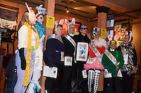 The 2013 Rondy Frostbite Footrace Costume Contest was held at the Glacier Brewhouse in downtown Anchorage, Alaska.