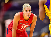 Washington, DC - June 15, 2018: Washington Mystics guard Elena Delle Donne (11) during game between the Washington Mystics and Los Angeles Sparks at the Capital One Arena in Washington, DC. (Photo by Phil Peters/Media Images International)