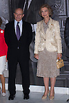 13.09.2012. Queen Sofia of Spain attends the exhibition opening ´Gyenes. Master Photographer´in the National Library of Spain. In the image Jose Ignacio Wert (Minister of Education and Culture of Spain) and Queen Sofia of Spain (Alterphotos/Marta Gonzalez)