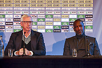 2nd January 2020, The Hague, Holland;  ADO Den Haag new coach Alan Pardew and ADO Den Haag assistant coach Chris Powell during the presentation of Alan Pardew as the new ADO head coach.