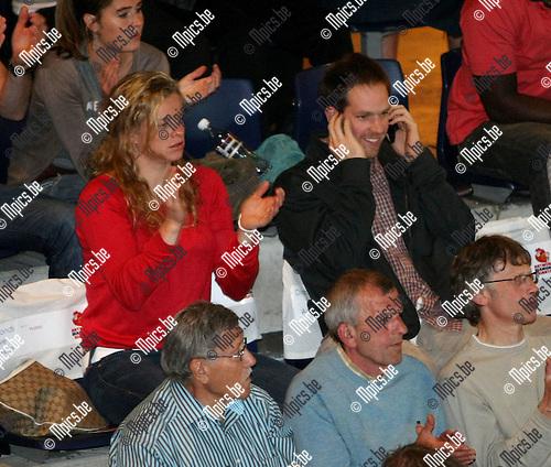 2009-05-28 / Basketbal / Antwerp Giants - Spirou Charleroi / Kim Clijsters in de tribune..Foto: Maarten Straetemans (SMB)