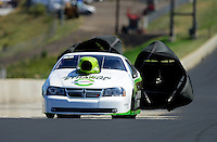 Jul, 21, 2012; Morrison, CO, USA: NHRA pro stock driver Deric Kramer during qualifying for the Mile High Nationals at Bandimere Speedway. Mandatory Credit: Mark J. Rebilas-