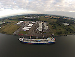 An aerial view of the Flo Gas Terminal on the Marsh Road in Drogheda.<br /> Picture: www.newsfile.ie