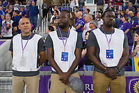 Orlando, FL - Saturday March 24, 2018: Volunteer during a regular season National Women's Soccer League (NWSL) match between the Orlando Pride and the Utah Royals FC at Orlando City Stadium. The game ended in a 1-1 draw.