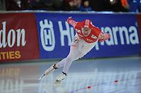 SCHAATSEN: ERFURT: Gunda Niemann-Stirnemann Halle, 02-03-2013, Essent ISU World Cup, Season 2012-2013, 1000m Men A, Aleksey Yesin (RUS), ©foto Martin de Jong