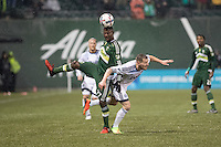 Portland, Oregon - Wednesday, February 15, 2017: Portland Timbers vs Vancouver Whitecaps FC in a preseason match at Providence Park.  Final Score: Portland Timbers 2, Vancouver Whitecaps 1