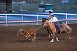 WY: Wyoming, Cody..Cody Night Rodeo..Photo #: yellow900..Photo copyright Lee Foster, 510/549-2202, lee@fostertravel.com, www.fostertravel.com..