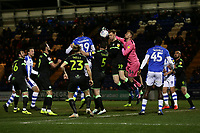 Lewis Ward of Forest Green Rovers punches clear during Colchester United vs Forest Green Rovers, Sky Bet EFL League 2 Football at the JobServe Community Stadium on 12th March 2019