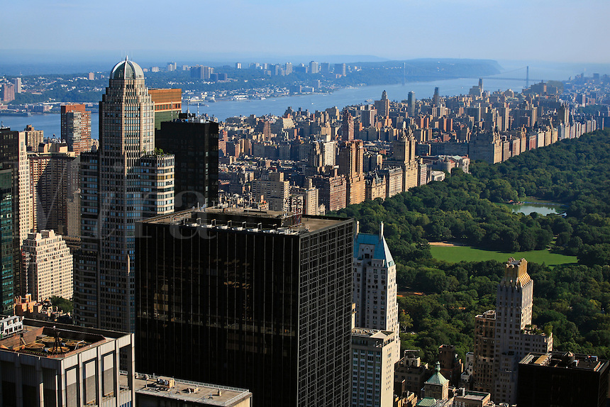 View of CENTRAL PARK from TOP OF THE ROCK - ROCKEFELLER CENTER - NEW YORK CITY