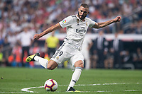 Karim Benzema of Real Madrid during the match between Real Madrid v Cd Leganes of LaLiga, 2018-2019 season, date 3. Santiago Bernabeu Stadium. Madrid, Spain - 1 September 2018. Mandatory credit: Ana Marcos / PRESSINPHOTO
