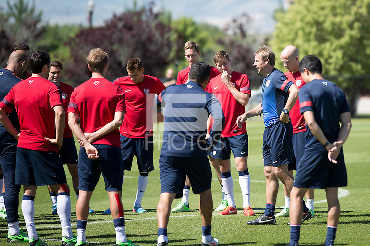 Salt Lake City, UT - Saturday, June 15, 2013: USMNT training for Honduras WC qualifying match.