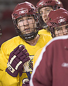 Brian O'Hanley (Andrew Orpik, Joe Rooney) - Boston College's morning skate on Saturday, December 31, 2005 at Magness Arena in Denver, Colorado.  Boston College defeated Princeton that night to win the Denver Cup.