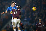 01.12.2019 Rangers v Hearts: Greg Stewart heads in goal no 5 for Rangers