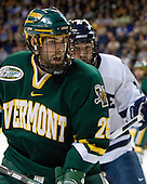 Jonathan Higgins (Vermont - 25) - The University of Vermont Catamounts defeated the Yale University Bulldogs 4-1 in their NCAA East Regional Semi-Final match on Friday, March 27, 2009, at the Bridgeport Arena at Harbor Yard in Bridgeport, Connecticut.