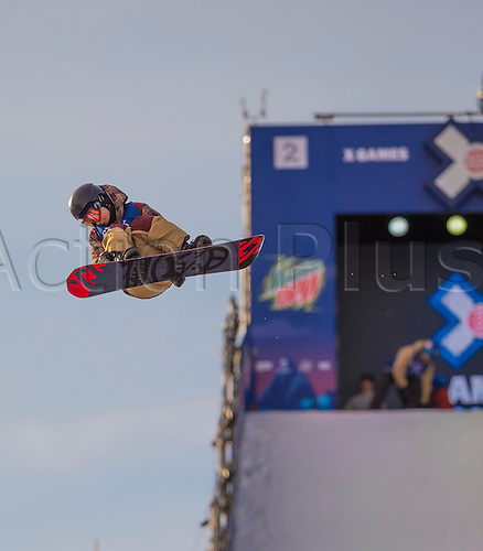 26.02.2016. Wyller Oslo Winter Park, Oslo, Norway. Red Bull X Games. Mens Snowboard Big Air  Round 1. Keita Inamura of Japan<br />