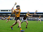 John Conlon of Clonlara in action against Jack Browne of Ballyea  during their senior county final replay at Cusack Park. Photograph by John Kelly.