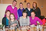21st Birthday: Kerrie Dore, Listowel celebrating her 21st Birthday with her family at The Horseshoe Bar in Listowel on Friday night last. Front: Helen Cooney, Erin Dore, Kerrie Dore & John Dore. Back: Robert heffernan, Cian Dore, Billy Doyle & Leah Dore.