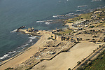 Israel, Sharon region, an aerial view of Caesarea Maritama