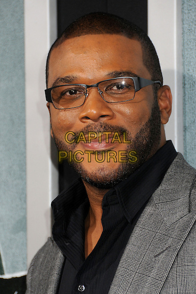 "Tyler Perry.""Alex Cross"" Los Angeles Premiere held at the Arclight Cinerama Dome, Hollywood, California, USA..October 15th, 2012.headshot portrait grey gray suit black shirt  glasses beard facial hair .CAP/ADM/BP.©Byron Purvis/AdMedia/Capital Pictures."