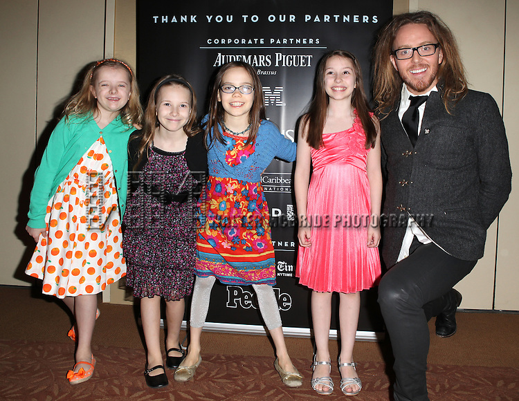 Matilda: Milly Shapiro, Sophia Gennusa, Oona Laurence, Bailey Ryon & Tim Minchin attending the 2013 Tony Awards Meet The Nominees Junket  at the Millennium Broadway Hotel in New York on 5/1/2013...