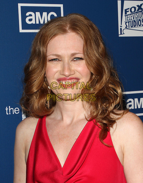 "MIREILLE ENOS .Premiere Of AMC's Series ""The Killing""  Held At The Harmony Gold Theatre,  Los Angeles, California, USA, .21st  March 2011.portrait headshot red sleeveless  smiling .CAP/ADM/KB.©Kevan Brooks/AdMedia/Capital Pictures."