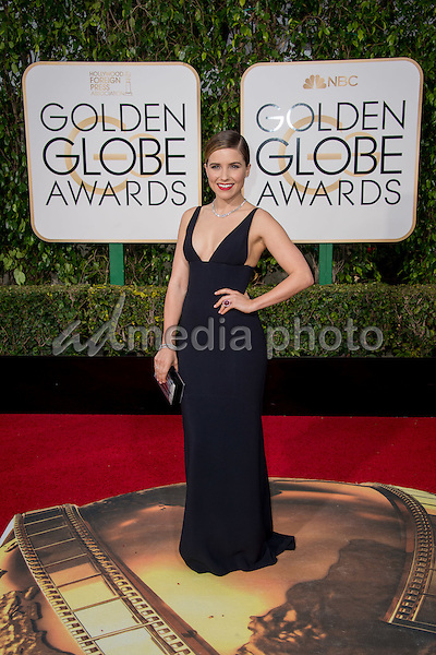 Presenter Sophia Bush arrives at the 73rd Annual Golden Globe Awards at the Beverly Hilton in Beverly Hills, CA on Sunday, January 10, 2016. Photo Credit: HFPA/AdMedia