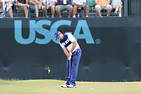 Sergio Garcia (ESP) takes his putt on the 9th green during Saturday's Round 3 of the 117th U.S. Open Championship 2017 held at Erin Hills, Erin, Wisconsin, USA. 17th June 2017.<br /> Picture: Eoin Clarke | Golffile<br /> <br /> <br /> All photos usage must carry mandatory copyright credit (&copy; Golffile | Eoin Clarke)