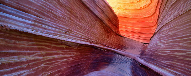 Slot Canyon in the Wave. Vermillion-Cliffs Wilderness, Arizona/Utah