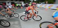 12 JUL 2009 - KITZBUHEL, AUT - Nicola Spirig - ITU World Championship Series Womens Triathlon.(PHOTO (C) NIGEL FARROW)
