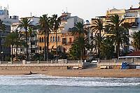 The beach. Sitges, Catalonia, Spain