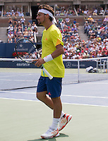 Fabio Fognini..Tennis - US Open - Grand Slam -  New York 2012 -  Flushing Meadows - New York - USA - Sunday 2nd September  2012. .© AMN Images, 30, Cleveland Street, London, W1T 4JD.Tel - +44 20 7907 6387.mfrey@advantagemedianet.com.www.amnimages.photoshelter.com.www.advantagemedianet.com.www.tennishead.net