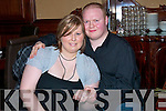 9775-9780.-----------.Pop the Question.----------------.Carmel O Driscoll and Oliver Walker(seated)both from Manor Tralee celebrated their engagement last Saturday night in the Grand Hotel Denny St Tralee with them were L-R Gerard Ahern and Claire O Grady.
