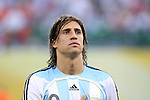 24 June 2006: Hernan Crespo (ARG). Argentina (1st place in Group C) defeated Mexico (2nd place in Group D) 2-1 after extra time at the Zentralstadion in Leipzig, Germany in match 50, a Round of 16 game, in the 2006 FIFA World Cup.