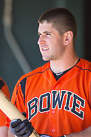 David Freitas (46) of the Bowie Baysox prior to the game against the Richmond Flying Squirrels at The Diamond on May 25, 2015 in Richmond, Virginia.  The Flying Squirrels defeated the Baysox 6-1. (Brian Westerholt/Four Seam Images)