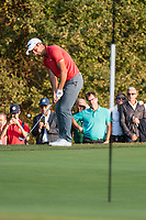 Edoardo Molinari (ITA) in action on the 17th hole during the second round of the 76 Open D'Italia, Olgiata Golf Club, Rome, Rome, Italy. 11/10/19.<br /> Picture Stefano Di Maria / Golffile.ie<br /> <br /> All photo usage must carry mandatory copyright credit (© Golffile | Stefano Di Maria)
