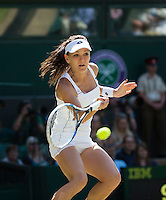 AGNIESZKA RADWANSKA (POL)<br /> <br /> TENNIS - THE CHAMPIONSHIPS - WIMBLEDON 2015 -  LONDON - ENGLAND - UNITED KINGDOM - ATP, WTA, ITF <br /> <br /> &copy; AMN IMAGES