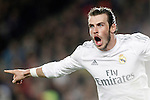 Real Madrid's Gareth Bale celebrates goal during La Liga match. April 2,2016. (ALTERPHOTOS/Acero)
