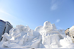 66th Sapporo Snow Festivai February 5th, 2015. <br /> A &quot;STAR WARS&quot; sculpture made from snow. (Photo by Hitoshi Mochizuki/AFLO)